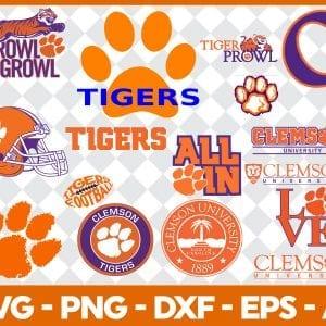 Clemson Tigers svg - Clemson Tigers logo NCAA Football Svg/ Clemson Tigers Football svg/Bundle NFL team Svg/ Digital File Dxf,Eps,Png,Svg