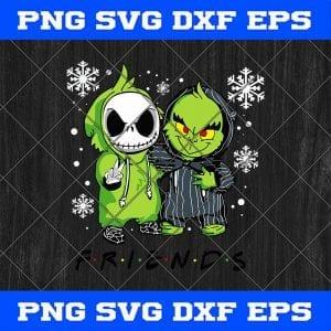 Friend Grinch And Jack Skellington Christmas Svg