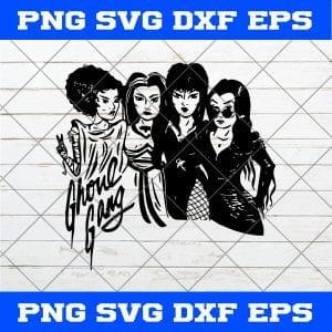 Girl Ghoul Gang SVG, Ghoul Gang SVG, Disney Halloween SVG, Halloween SVG, Girl Gang SVG, Black And White SVG
