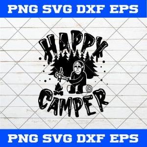Happy Camper Jason Voorhees Halloween SVG, Happy Camper SVG, Jason Voorhees SVG, Horror Movies SVG, Halloween SVG
