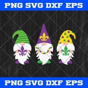 Three Gnomes Mardi Gras Day SVG PNG-Mardi Gras Day SVG Vector