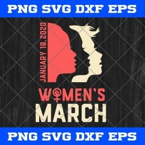 Women's March January 18 2020 SVG