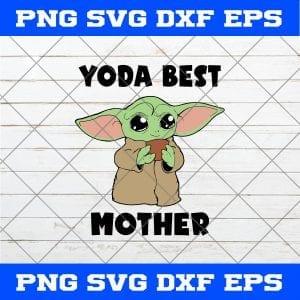 Baby Yoda Best Mother's Day SVG Art Vector Cricut Cameo File Silhouette Art