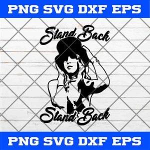 Stevie Nicks Stand Back SVG