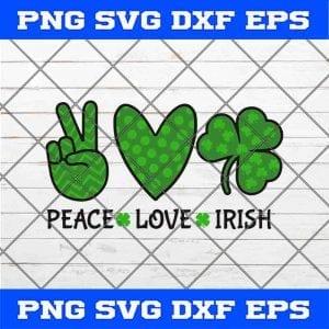 Peace Love Irish SVG