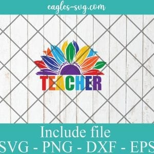 LGBT Pride Sunflower Teacher svg, Gay Pride Svg, Lesbian pride Svg – SVG PNG EPS DXF Cricut Cameo File Silhouette Art