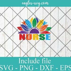 LGBT pride sunflower nurse svg, Gay Pride Svg, Lesbian pride Svg – SVG PNG EPS DXF Cricut Cameo File Silhouette Art