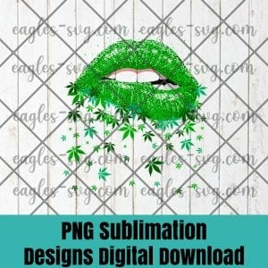 Sexy Lips Cannabis Marijuana Weed Pot Leaf Lover Gift Tank Top PNG Sublimation Design Download, T-shirt design sublimation design, PNG