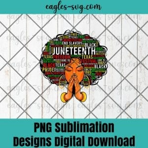 Juneteenth Melanin Black Women Natural Hair Afro Word Art PNG, Juneteenth PNG, Black Power Png, Freedom Day Png - Sublimation Downloads