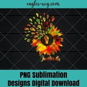 Sunflower Fist Juneteenth Black History African American Png - Instant Download - PNG Printable - Digital Print Design