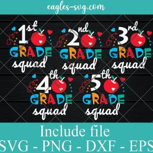 Bundle Grade Squad Back To School SVG PNG DXF EPS Cricut Silhouette