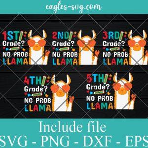 Bundle Grade No Prob Llama Teacher SVG PNG DXF EPS Cricut Silhouette