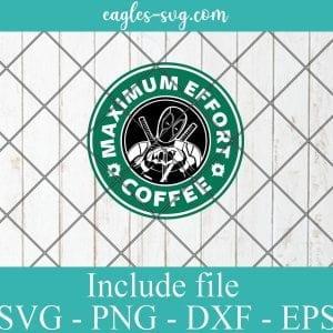 Deadpool Logo Starbucks SVG PNG DXF Cricut Silhouette - Maximum Effort Coffee SVG, Marvel Starbucks SVG, Superhero Coffee SVG