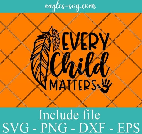 Every Child Matters Svg Png Eps Dxf Cut File , Save Children Quote svg, Children Svg, School Svg, Feathers Svg, Child Awareness Svg