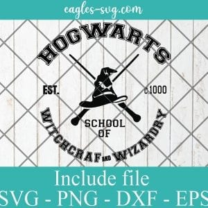 Hogwarts School of Witchcraft and Wizardry SVG PNG DXF EPS Cricut Silhouette