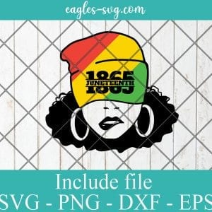 Juneteenth afro Girl svg Celebrate Juneteenth svg Freeish 1865 Black Girl Magic svg