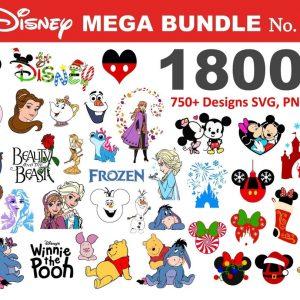 1800+ Disney SVG Mega Bundle designs, Fun Disney bundle, Disney svg bundle, Big bundle SVG and for cricut files, Clipart Svg