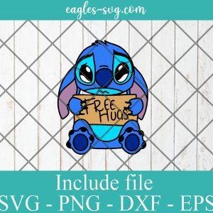 Disney Cartoon Stitch free hugs SVG PNG DXF Cricut Silhouette