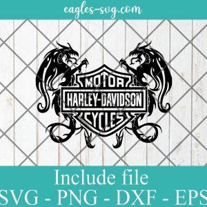Harley Davidson Logo Dragon SVG PNG DXF EPS Cricut Silhouette