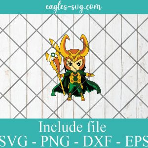 Loki Baby Cute Superhero SVG PNG DXF Cricut Silhouette, Marvel Comics SVG