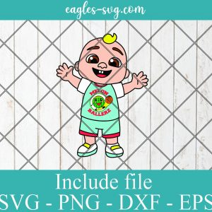 JJ Cocomelon Balller Basketball Layered SVG PNG DXF Cricut Silhouette