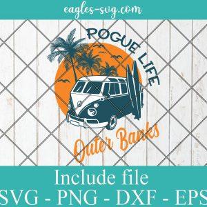Pogue Life Outer Banks Surf Life Bus Vintage Sunny SVG PNG DXF EPS Cricut Silhouette