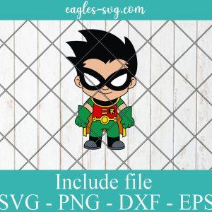 Robin Baby Cute Superhero Layered SVG PNG DXF Cricut Silhouette, DC Comics SVG