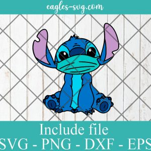 Stitch a Face Mask Layered SVG PNG DXF Cricut Silhouette
