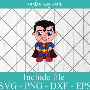 Superman Baby Cute Superhero Layered SVG PNG DXF Cricut Silhouette, DC Comics SVG