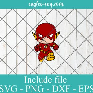 The Flash Baby Cute Superhero Layered SVG PNG DXF Cricut Silhouette, DC Comics SVG