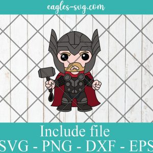 Thor Baby Cute Superhero Layered SVG PNG DXF Cricut Silhouette, Marvel Comics SVG