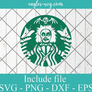 Beetlejuice Starbucks It's Showtime Svg Png Ai Cricut Silhouette Vector
