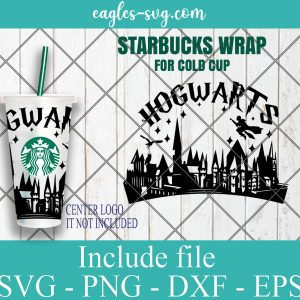 Believe in Magic SVG, Harry Potter Inspired Starbucks Venti Cold Cup, Starbucks Fiction SVG
