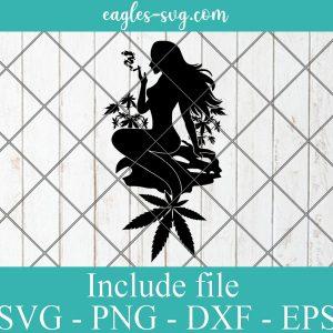 Mermaid Weed svg Cannabis Mermaid SVG Smoking Marijuana Joint Smoke Blunt Svg Png Ai Cricut Silhouette