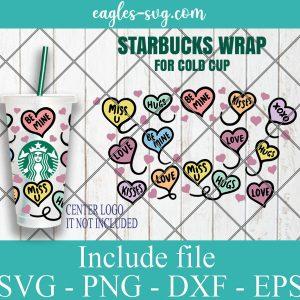 Doodle Valentine Heart Starbucks Cup SVG
