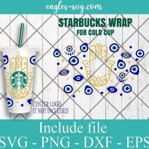 Evil Eye Starbucks Cup SVG, Evil Eye SVG, Turkish eye svg, Starbucks Venti Cold Cup, Svg, Png, Ai files for Cricut