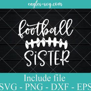 Football Sister Svg, Little Sister Biggest Fan Svg, Game Day Svg, Football Sis, Football Seams Svg File for Cricut, Png, Ai