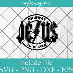 Jesus Highway to Heaven Svg, Christian ACDC Rock n Roll Svg for cricut