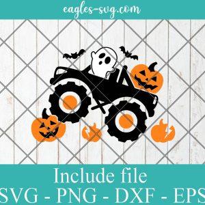 Pumpkin Monster Truck Svg, Boys Halloween Svg, Ghost Svg, Ai, Png, Kids Clipart, Fall Cut Files, Silhouette, Cricut