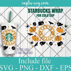 Spooky Season Starbucks SVG, Pumpkin Starbucks Svg, Halloween Svg, Starbucks Venti Cold Cup, Svg, Png, Ai files for Cricut