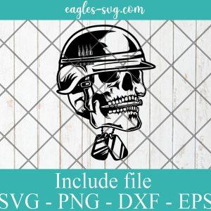 US Soldier Skull Svg, Usa Veteran svg, US Military Svg, Army Skull Svg, patriotic skull svg