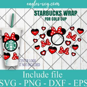 Valentine Red Bow Starbucks Cold Cup SVG, Full Wrap for Starbucks Venti Cold Cup, Files for Cricut, Digital Download