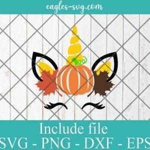 Autumn Unicorn Svg, Fall Unicorn Svg, Fall Baby Funny Cute Svg, Thanksgiving Svg Cut Files for Cricut, Png