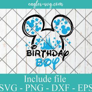 Birthday Boy Mickey ears Svg for cricut, My 1st birthday Svg, Disney Birthday baby Svg