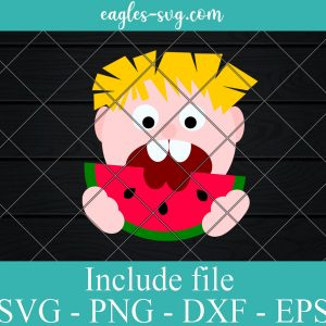 Boy Eating Watermelon SVG File for Cricut and Silhouette, Summer SVG File for Boys,Svg Watermelon Clip art