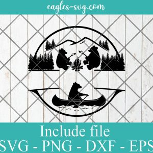 Camping Bears SVG, Camp Life SVG SVG for Silhouette or Cricut