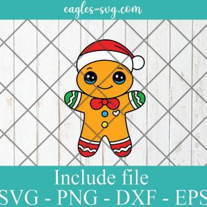 Christmas Gingerbread Man Svg, Cricut, Silhouette, Cut File, Clipart, Cartoon svg and png, Merry Christmas cookies svg