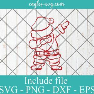 Dabbing Santa Svg, Santa Claus Svg, Christmas Svg, X-Mas Svg, Winter Svg Files for Cricut, Png