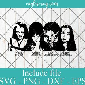 Elvira Lily Munster Morticia Bride of Frankenstein Svg, Halloween SVG for Silhouette or Cricut