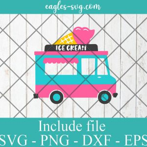 Ice cream truck svg, food truck svg, summer svg, kitchen svg, png, cutting files for Silhouette Cameo, Cricut